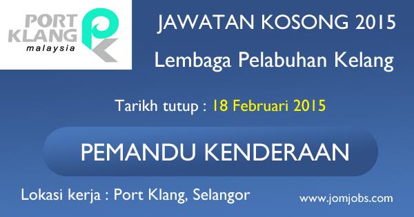 Jawatan Kosong Lembaga Pelabuhan Kelang 2015 Terkini
