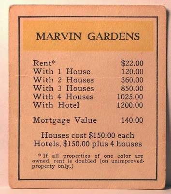 Marvin Gardens card from 1936