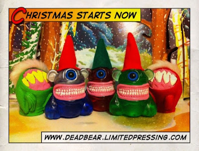 Christmas Tiny Teeth Mini Resin Figures by Motorbot