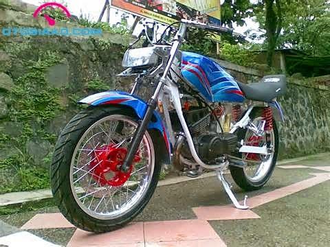 Top modifikasi motor rx king warna biru