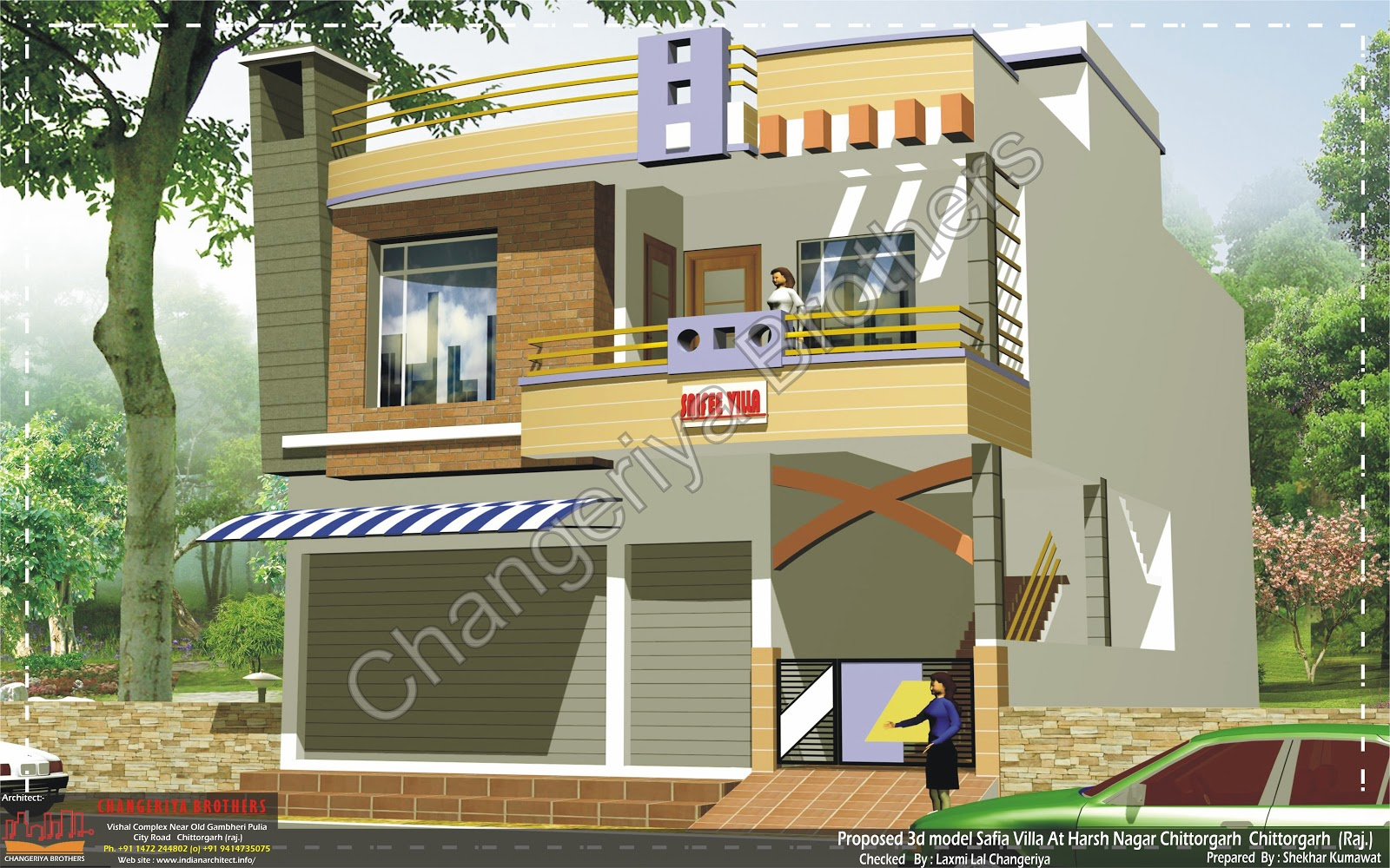 Sukha sagar 30x60 3d model elevation 3d naksha Naksha for house construction