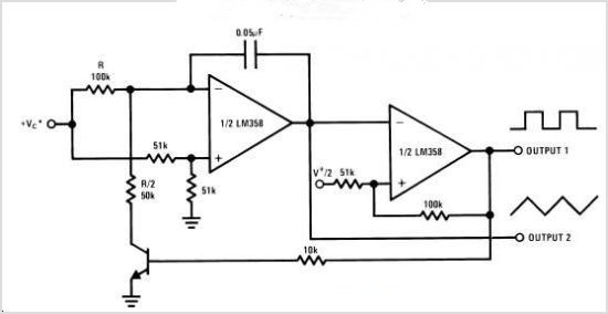 electronic circuit  low power dual operational amplifier