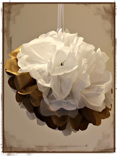 decorazione con carta velina