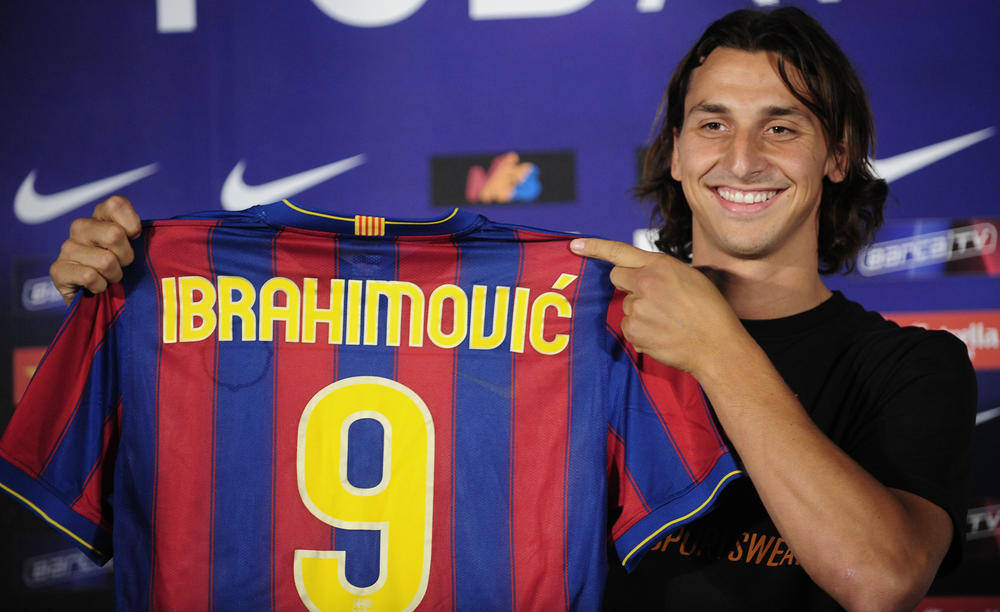 Zlatan Ibrahimovic's career brought him to Barcelona.