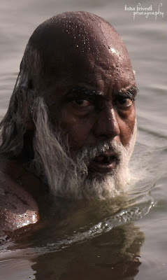 "The look clicked by Isha Trivedi The scary man The eyes ""Isha Trivedi"" ""Varanasi"""