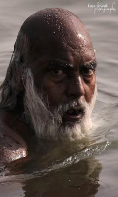 """The look clicked by Isha Trivedi The scary man The eyes """"Isha Trivedi"""" """"Varanasi"""""""