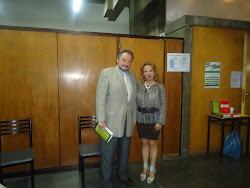 El Fiscal Nacional en lo Criminal, Dr. Daniel Pablovsky, y la Dra. Patricia A. Taus.