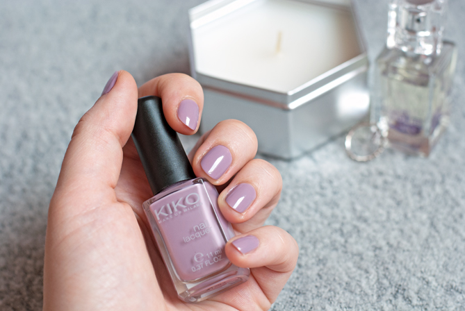 Kiko Mauve Grey nail polish swatches