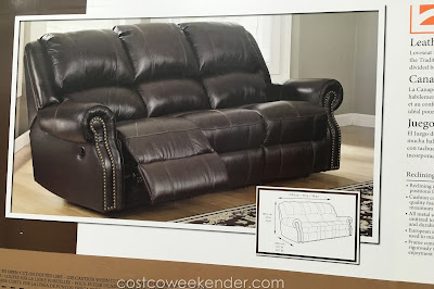 Relax in style on the Berkline Leather Reclining Sofa