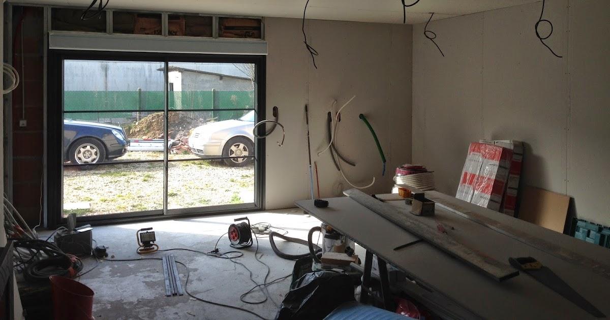notre projet salon salle manger isolation murs placo. Black Bedroom Furniture Sets. Home Design Ideas