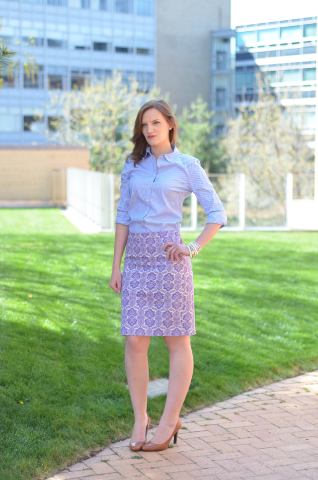 J.Crew No. 2 Pencil Skirt in Medallion Paisley