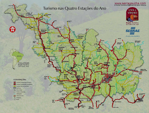 Mapa da Serra Gaúcha
