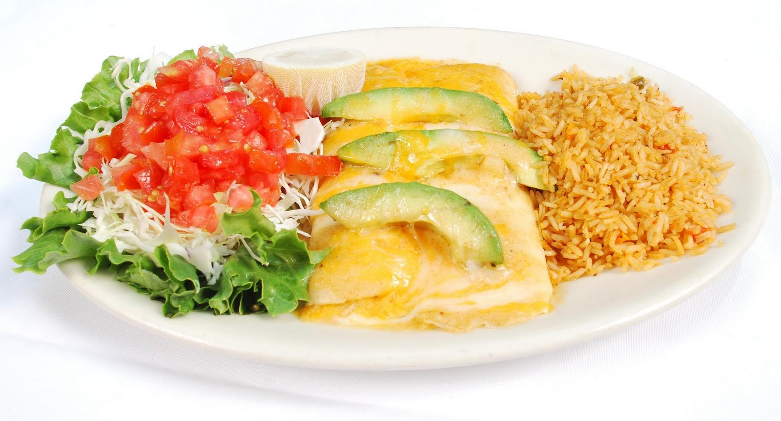 flour tortillas stuffed with shrimp and scallops*, topped with seafood ...