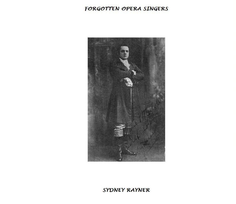 SYDNEY RAYNER (1895 - 1981) CD
