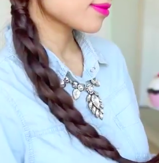 3D Split Twist Braid Hair Style