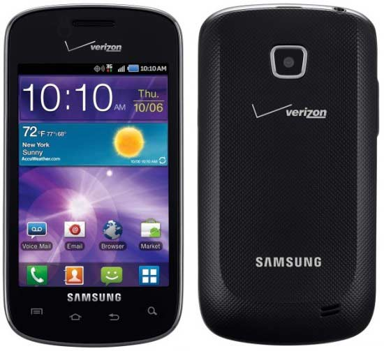 Verizon announces Android running Samsung Illusion free on contract