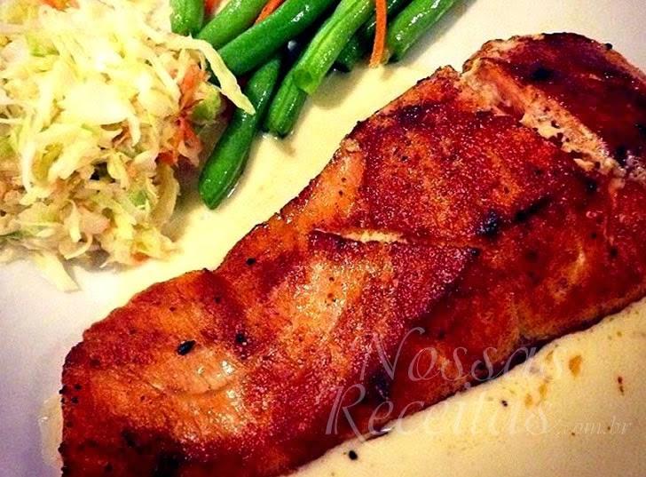 Receita de filé de peixe salmão dourado