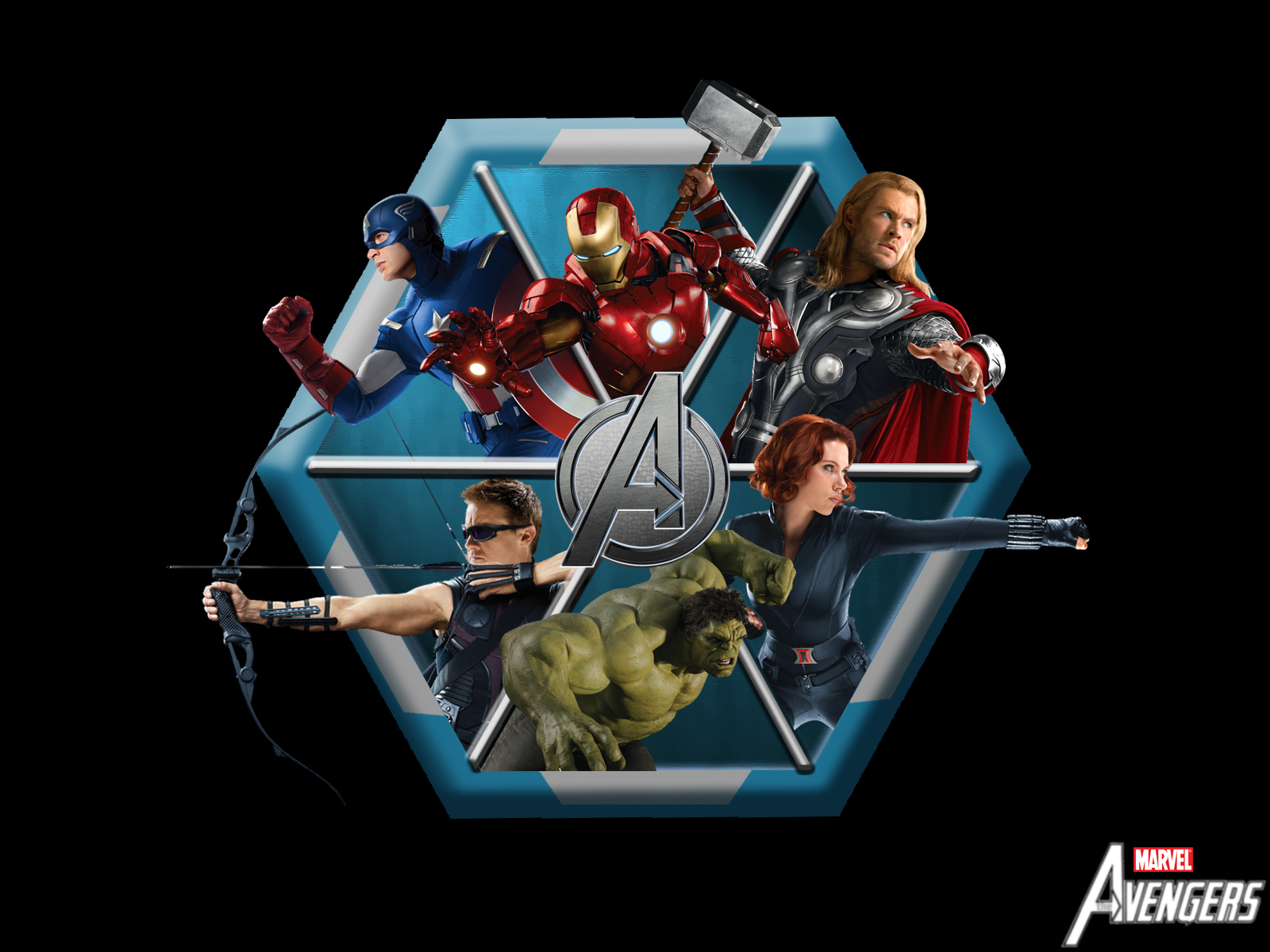 Avengers logo Cartoon HD Wallpaper
