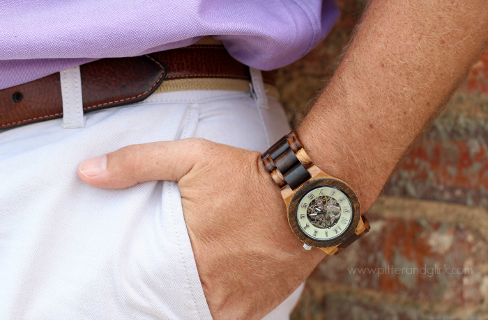The Dover Watch in Zebrawood & Cream from JORD Wood Watches. www.pitterandglink.com #jordwatch