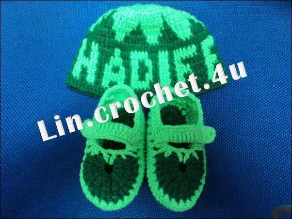 ::LiN CrOcHeT FoR U::: Baby booties & Kopiah