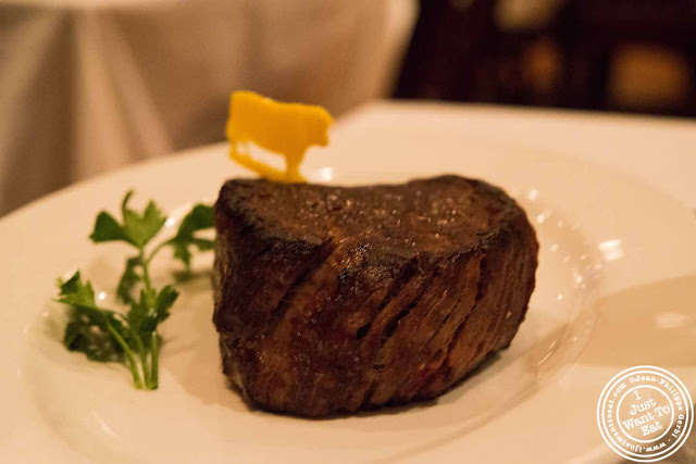 Image of Filet mignon at Ben and Jack's steakhouse in Murray Hill NYC, New York