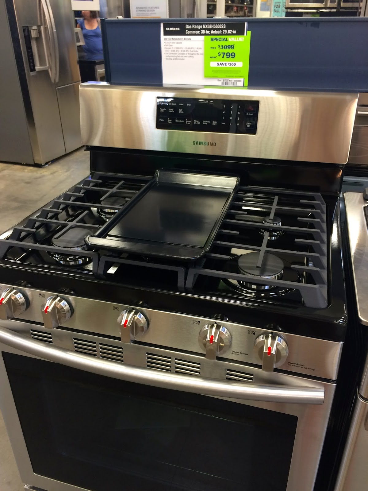 exciting cook stoves at lowes. We ended up getting it at Lowe s  also liked a Frigidaire stove there that was very similar but we have Samsung washer and dryer love them This Little House of Mine New Stove for Labor Day
