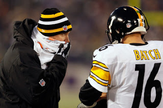 Ben Roethlisberger coaches Charlie Batch