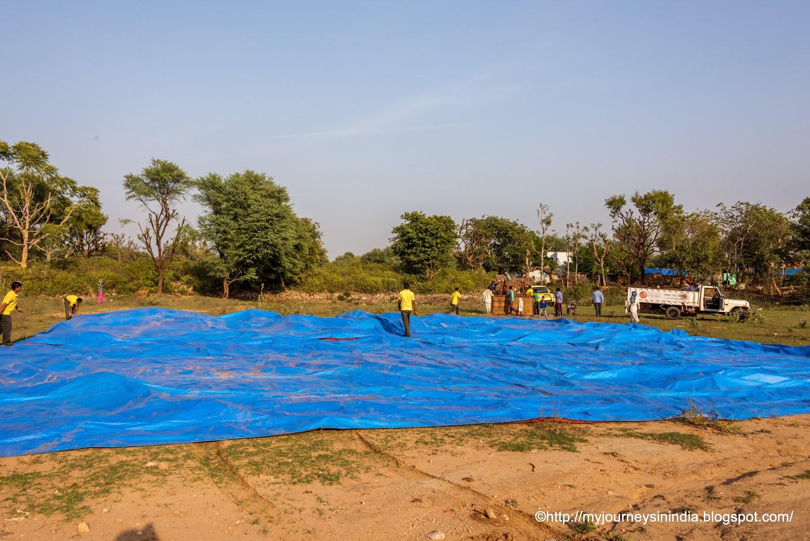 Hot Air Ballooning at Jaipur, Rajasthan India, Near Amer Fort