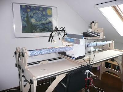 Mijn Quilt Avontuur!: Te koop Quiltframe voor je naaimachine.