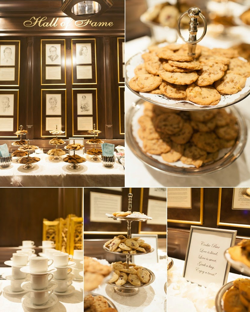 cookie bar wedding reception photo