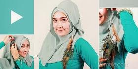 cara menggunakan/memakai jilbab