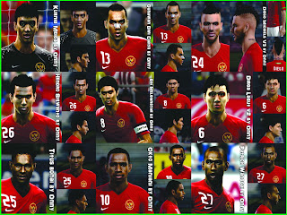 Download Facepack Timnas Indonesia PES 2013