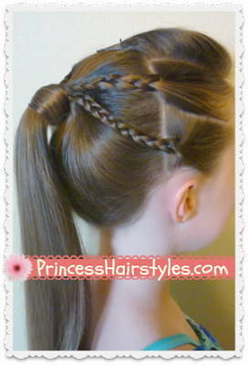 Double Braids Edgy Ponytail #Hairstyle Tutorial