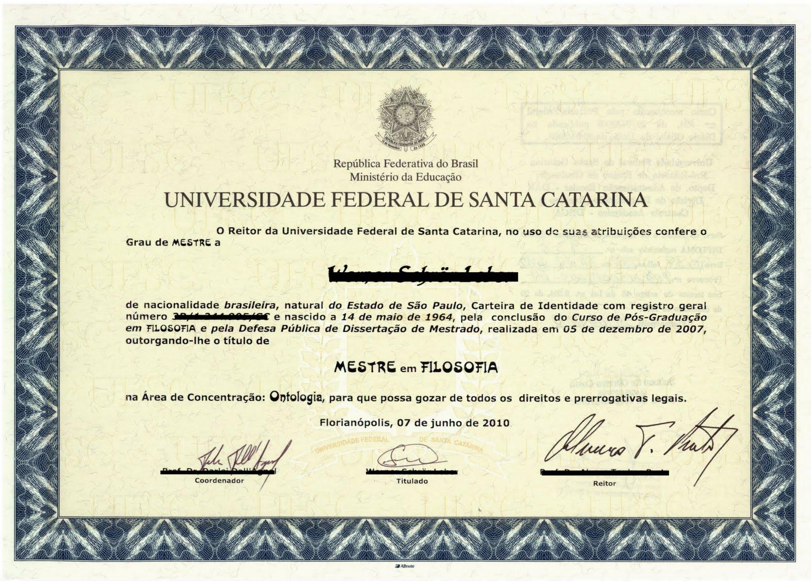 Modelo De Diplomas Universitarios