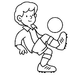 Desenhos de Futebol para colorir e pintar