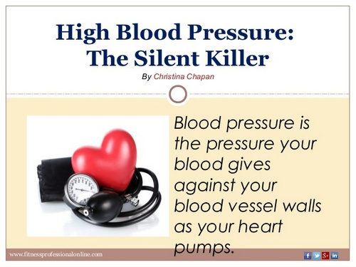 high blood pressure the silent killer that occurs without symptoms