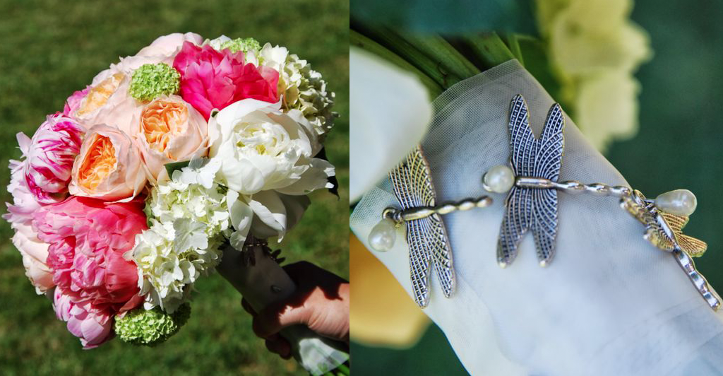 ramo novia peonias rosas hortensias
