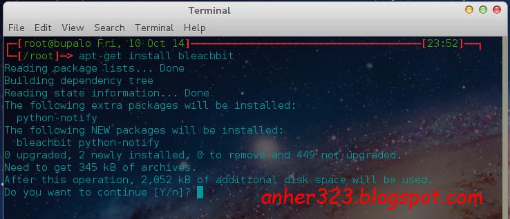 apt-get install bleachbit