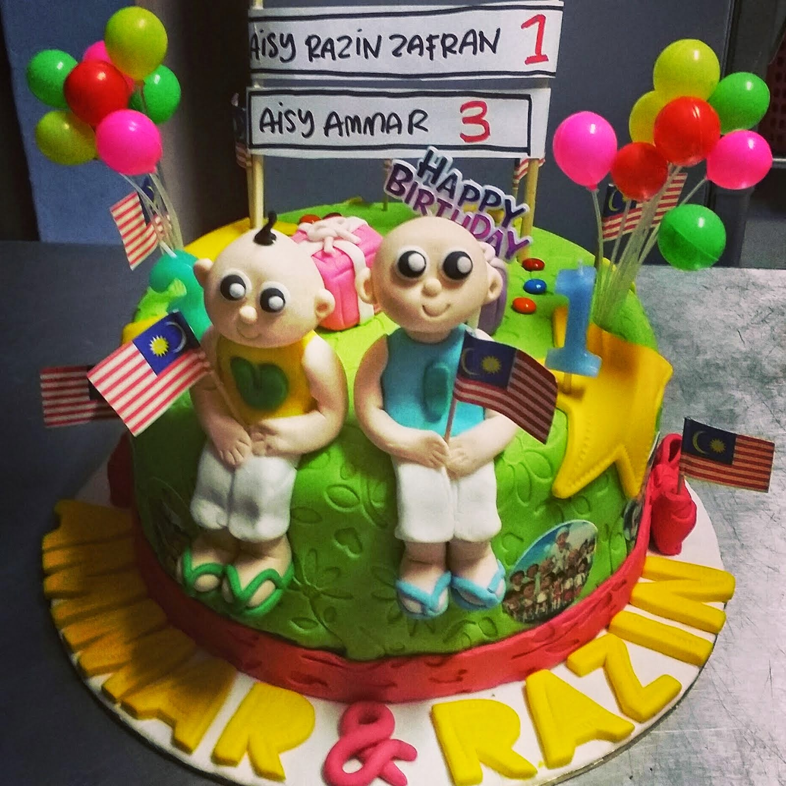 Birthday Cake Fondant & Figurine