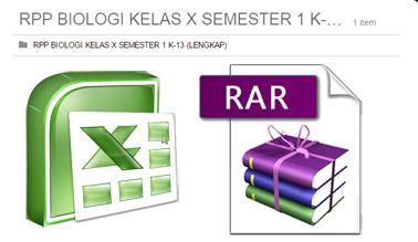 1 FILE RAR - RPP BIOLOGI KELAS X SEMESTER 1 KURIKULUM 2013 LENGKAP