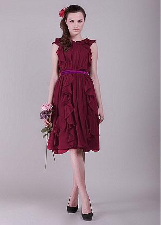 2202290817 Top Wedding Gowns  Fabulous 5 Oxblood Bridesmaid Dresses For Fall ...