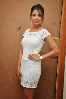 Actress Adonica New Pictures in Short Dress at Romeo Movie Audio Launch  15.JPG