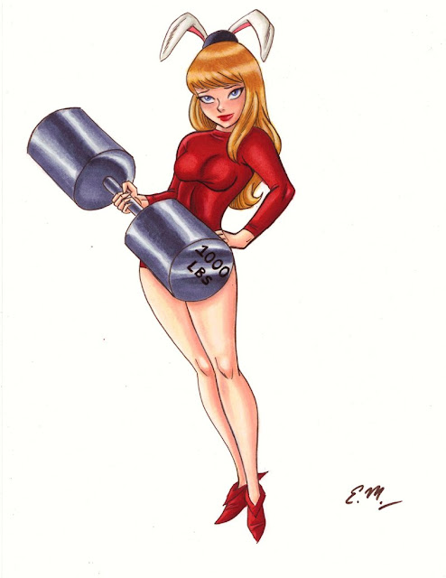 pin up comic girl