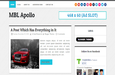 Apollo Technology Theme Blogger Template