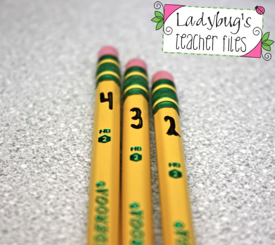 the great pencil challenge managing pencils ladybug s teacher files