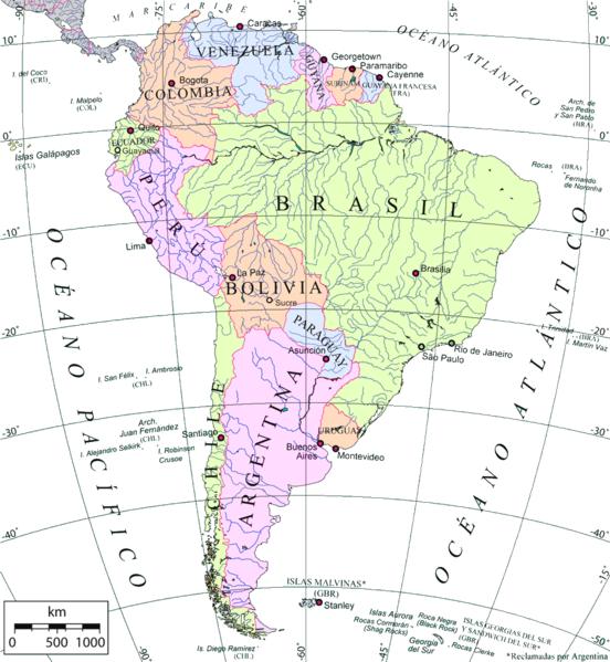 Ubicacion de Venezuela
