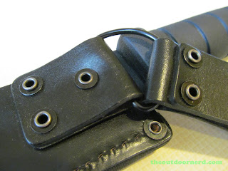 Ka-Bar Kukri Machete - Closeup Of Sheath
