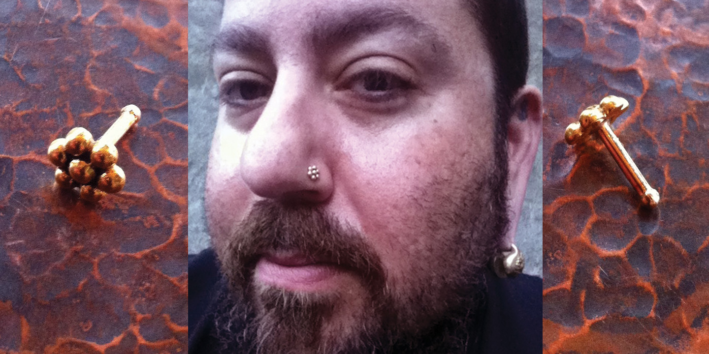 nostril piercing jewelry considerations barbells and flatbacks adam block one of my favorite piercers and favorite people wears nose bones by bvla adam pierces at the end is near in brooklyn new york