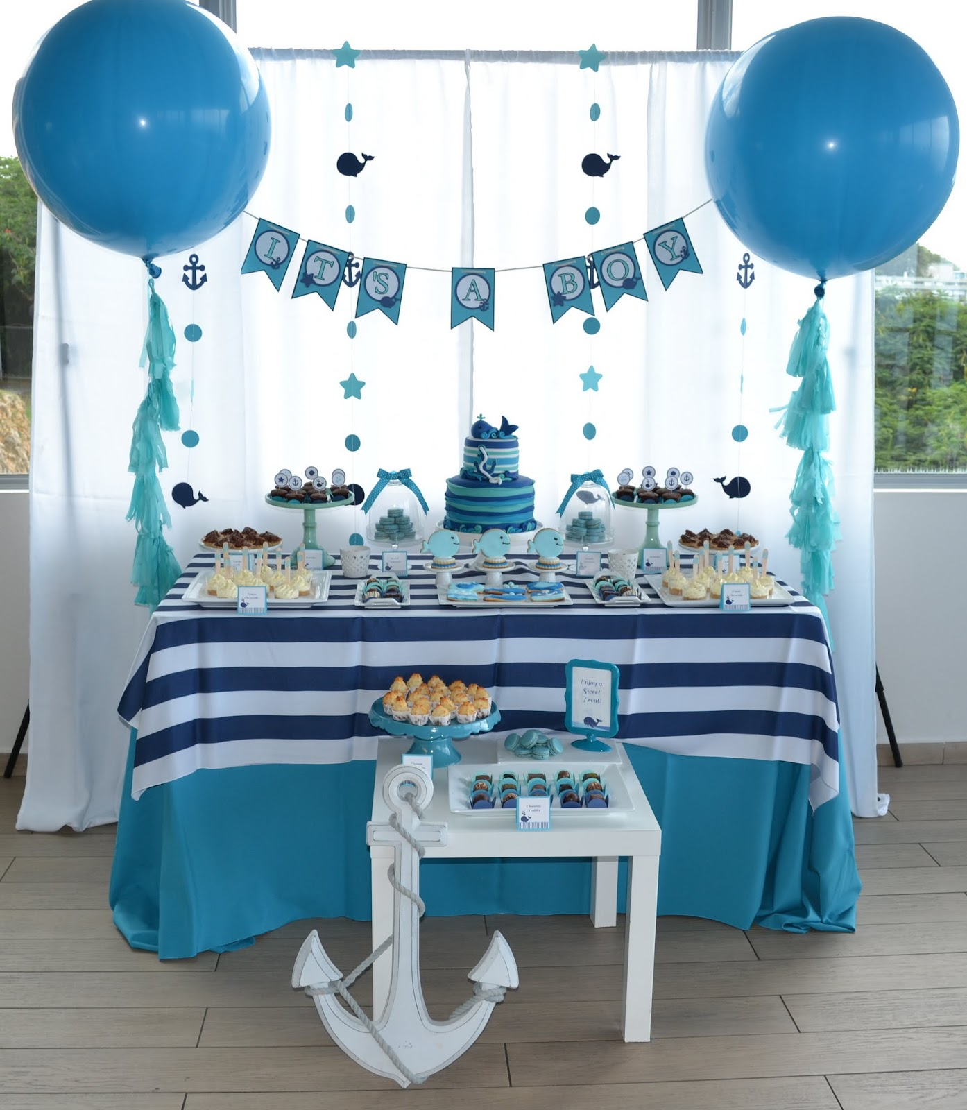 Baby Shower Themes For Boy: Partylicious Events PR: {Baby Whale Shower}