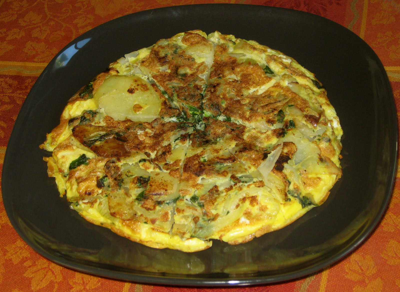 Anup's Kitchen: Potato and Spinach Frittata